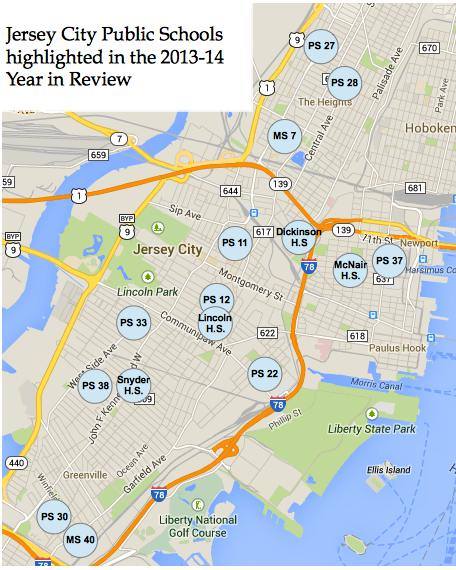 Jersey City Public Schools Year In Review Civic Parent - Map of jersey city