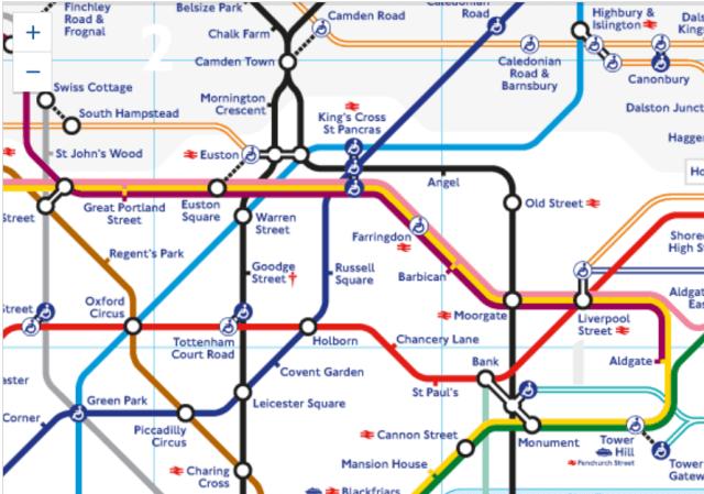 Screnshot of London Underground Map