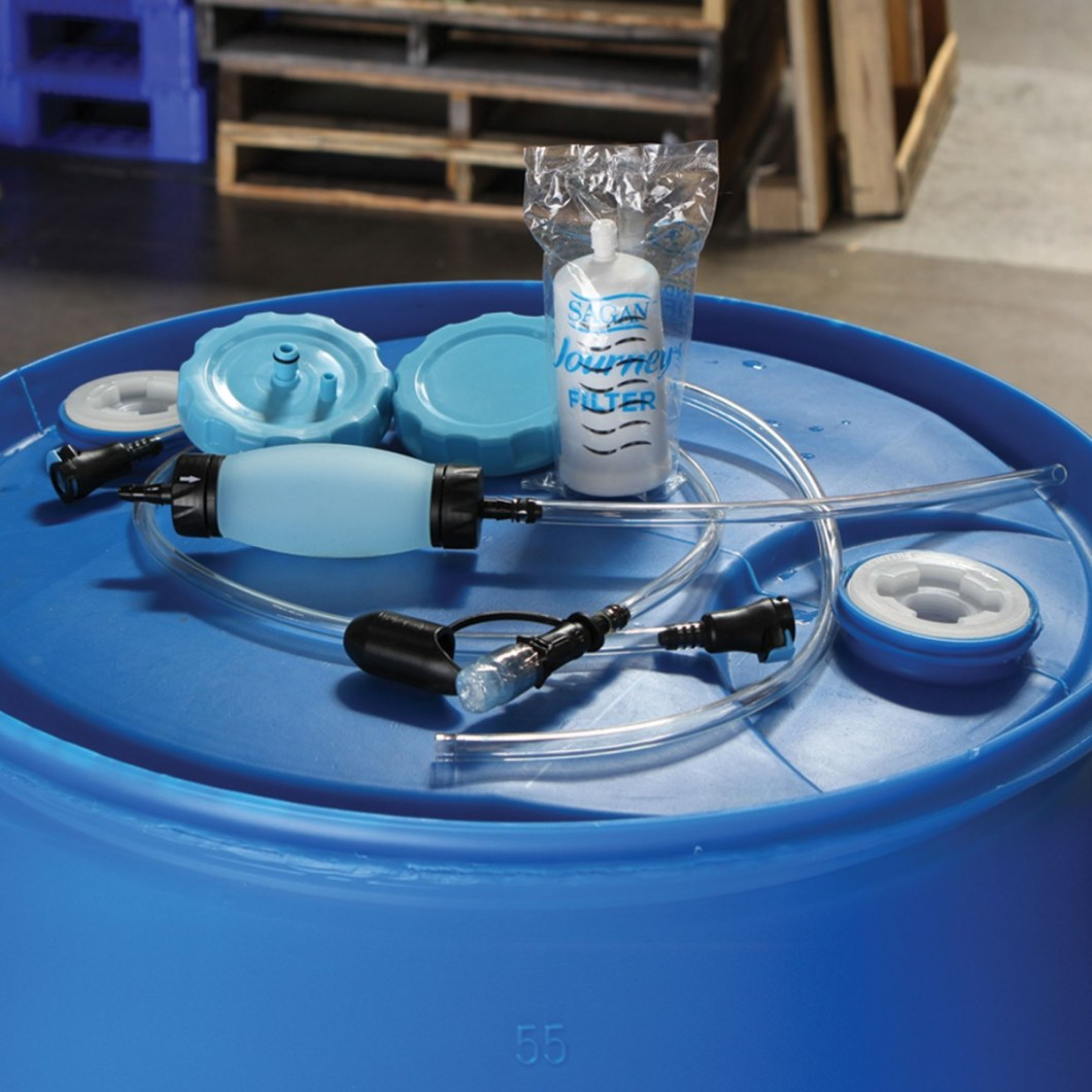 AquaDrum 250 Gallon Water Filter And Pump System
