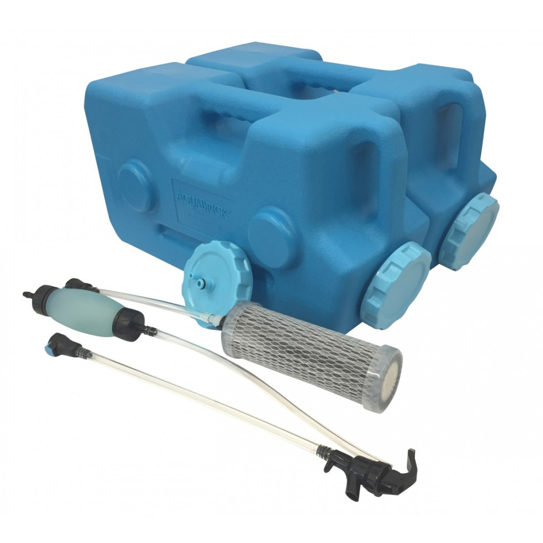 AquaBrick Water Filtration System - Complete 550 Gallon Kit