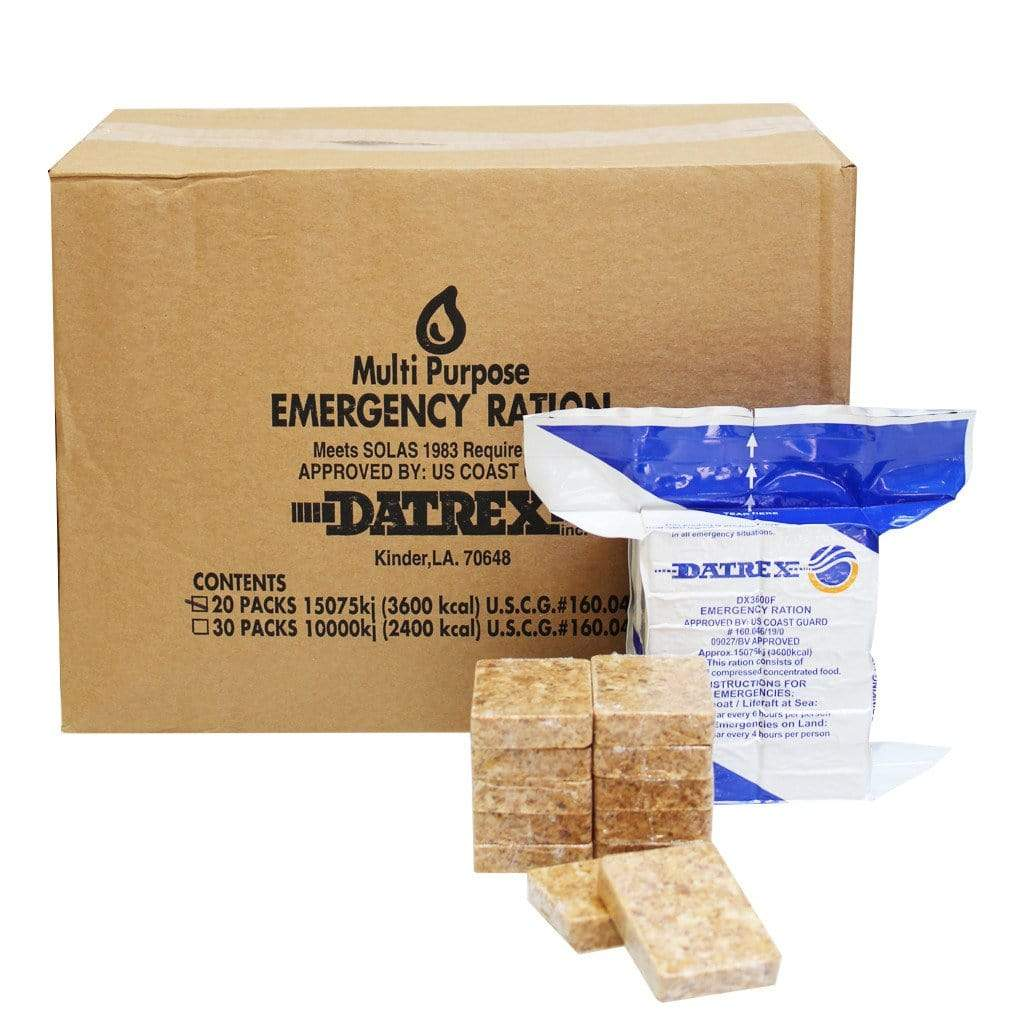 Datrex Emergency Food Ration Bars - 3600 Calories  (Case of 10)