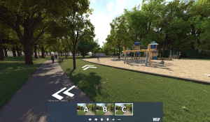 VR environment of the park