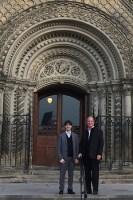 Professor Giovanni Grasselli, left, with FCMG President Duke Anderson in October 2015. (Courtesy: FCMG)