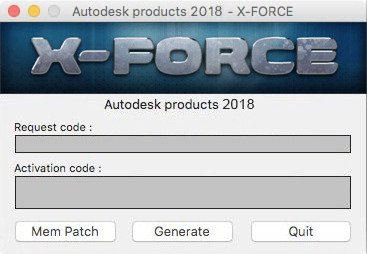 Autodesk 2018 All Products Keygen MAC by X-Force