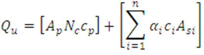 pile in cohesive formula