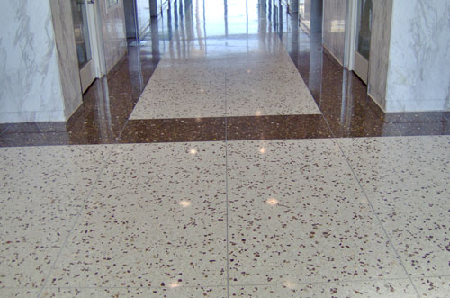 Terrazzo flooring or mosaic flooring