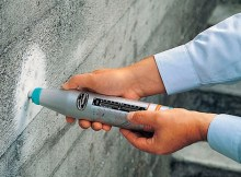 NDT test on concrete