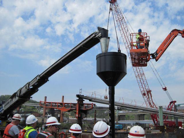 Tremie method of under water concreting