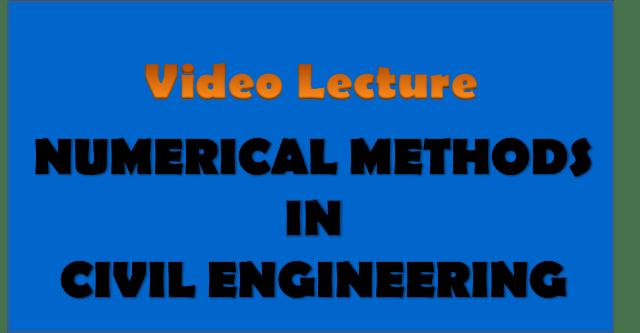 numerical methods in civil engineering - civil engineering