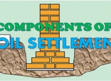 3 primary components contributing settlement of soil