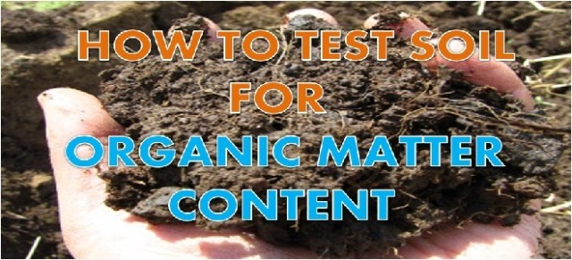 DETERMINATION OF ORGANIC MATTER CONTENT IN SOIL