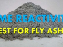 lime reactivity of fly ash