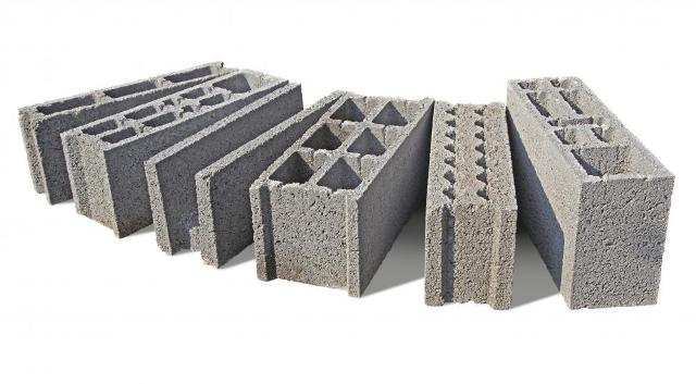 Different forms of hollow concrete blocks