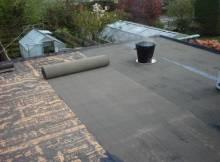 Roof treatment using of bitumen felt