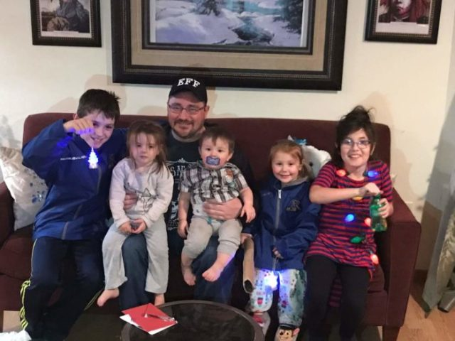 Jerry and his nephews and nieces