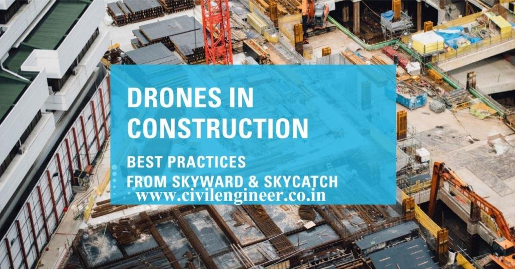 Drones in Construction Blue Print