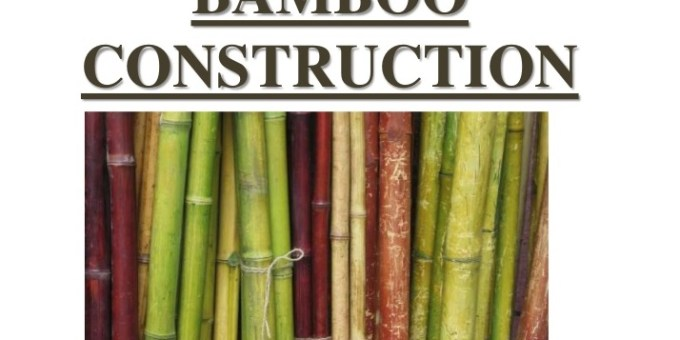 Bamboo as a construction material