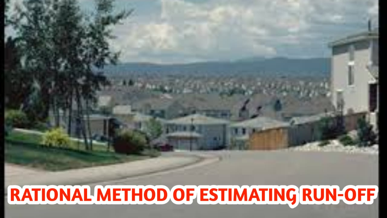 You are currently viewing Rational method of estimating run-off