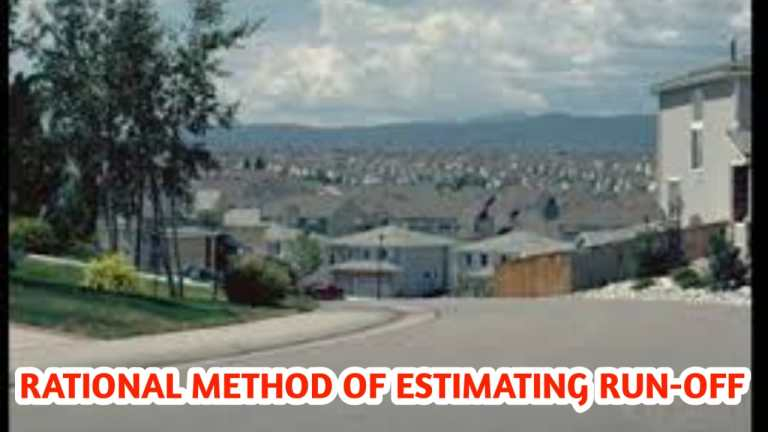 Read more about the article Rational method of estimating run-off