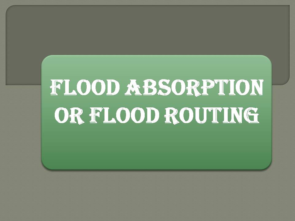Flood Absorption & Routing