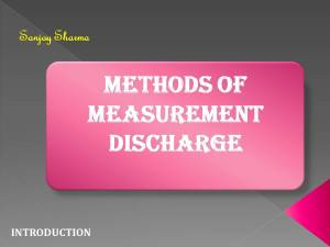 Methods of Measurement Discharge