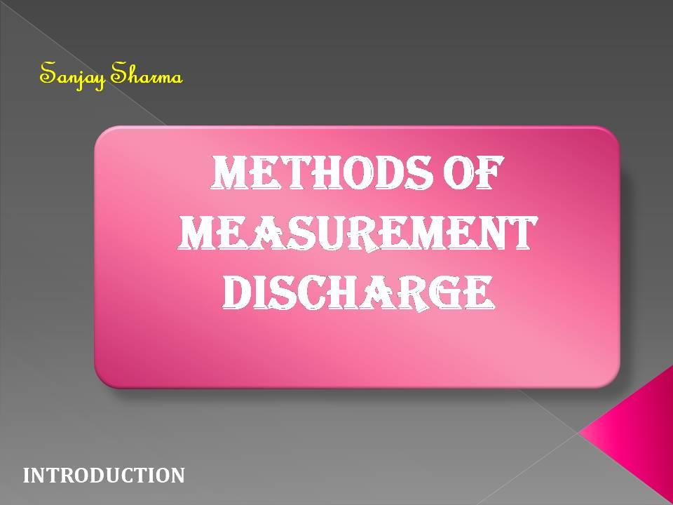 Measurement of Discharge