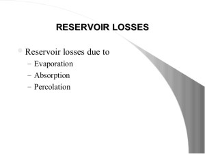 Reservoir losses