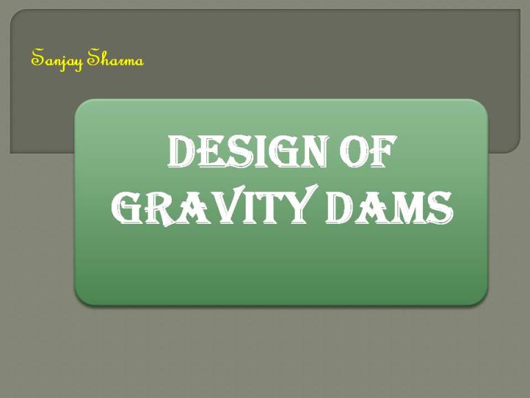 Read more about the article Design of gravity dams