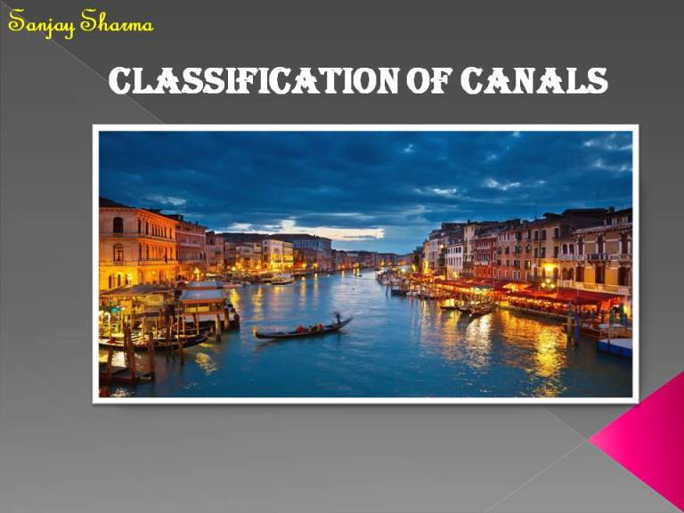 Read more about the article Classification of canals