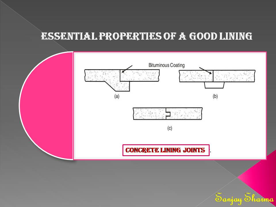 Essential properties of a good lining