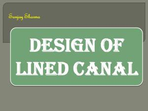 Design of lined canal