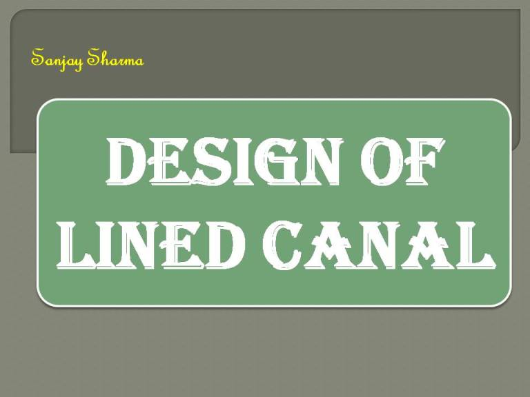 Read more about the article Design of lined canal