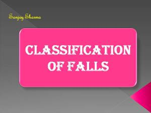 Classification of falls