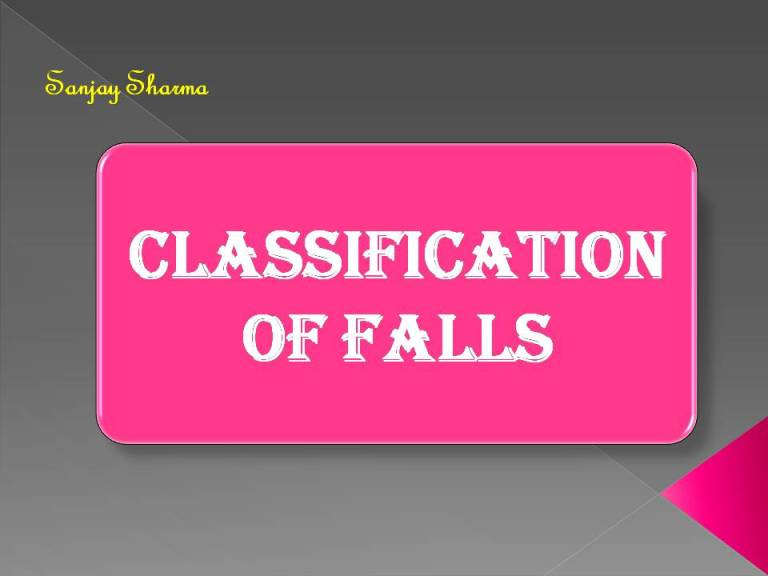 Read more about the article Classification of falls