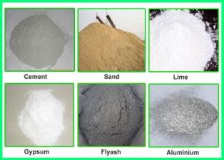 basic ingredients for aac blocks and aac concrete