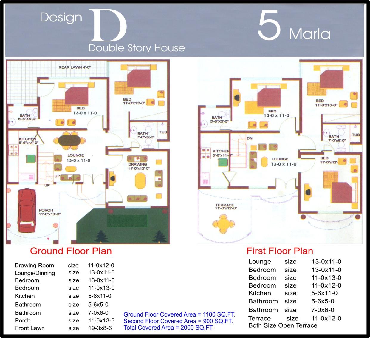 5 Marla Design D Final Civil Engineers Pk