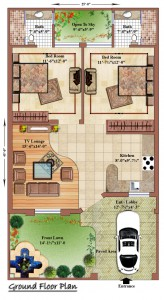 5 Marla Ground Floor Plan