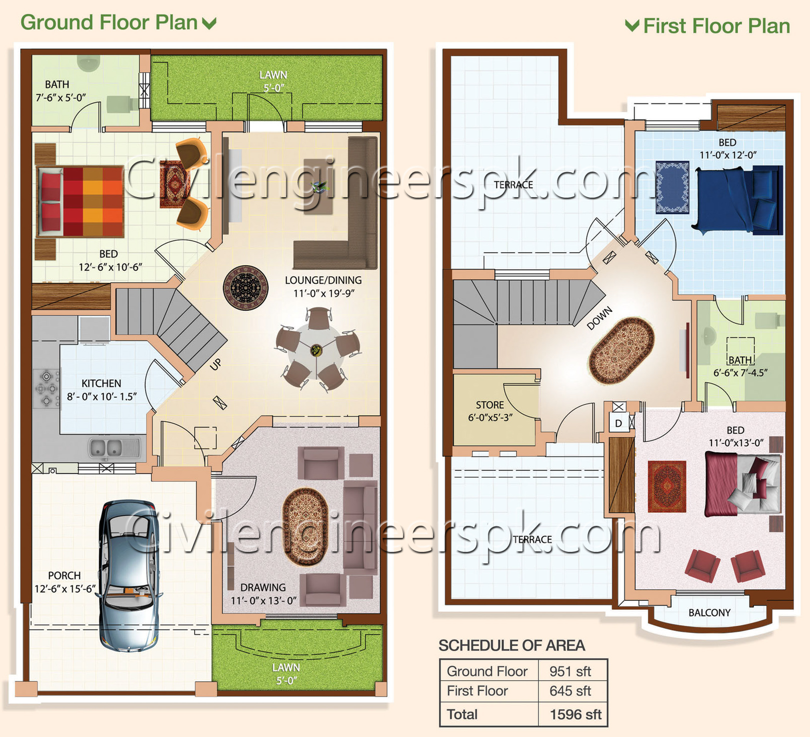 Home Design For 10 Marla: Civil Engineers PK