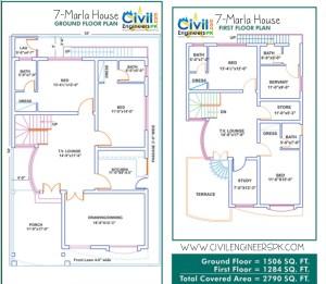 7 Marla House Plans