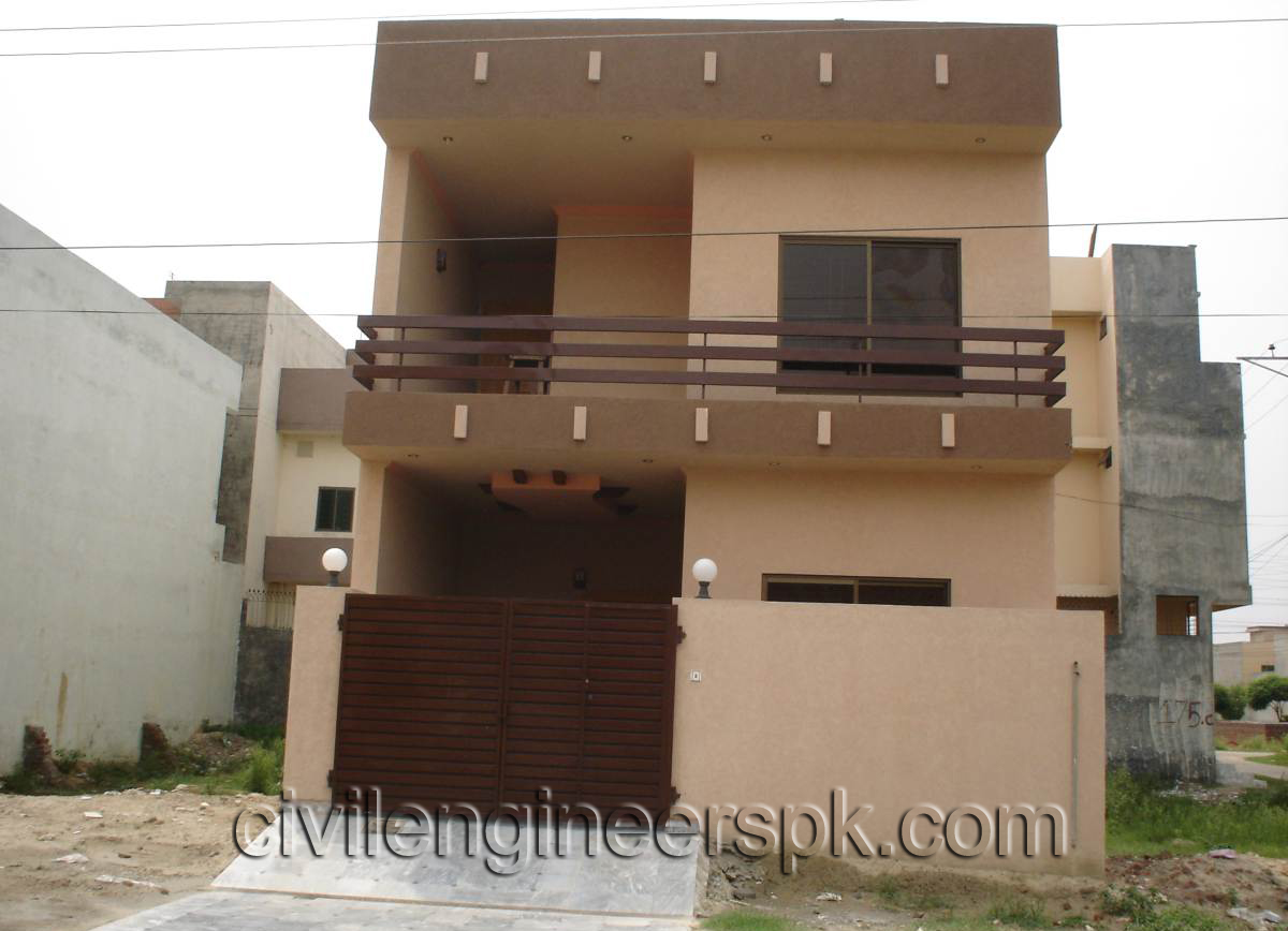 Front views civil engineers pk for Normal house front design