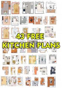 43 Free Kitchen Plans