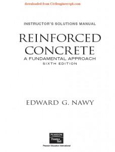Solution Manual Reinforced Concrete