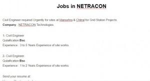 Jobs in NETRACON