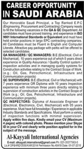 Career Opportunity in Saudi Arabia