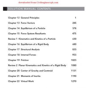 Solution Manual of Engineering Mechanics Dynamics