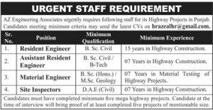 Urgent Staff Requirement