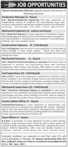 Jobs in NESCOM 29-5-2017 Civilengineerspk