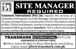Sunday Jobs Civilengineerspk 11-6-2017