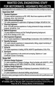 Sunday Jobs Civilengineerspk 24-9-2017