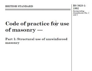 BS 5628-1 Code of practice for use of masonry